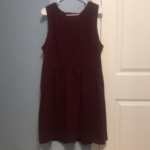 J Crew burgundy sleeveless dress